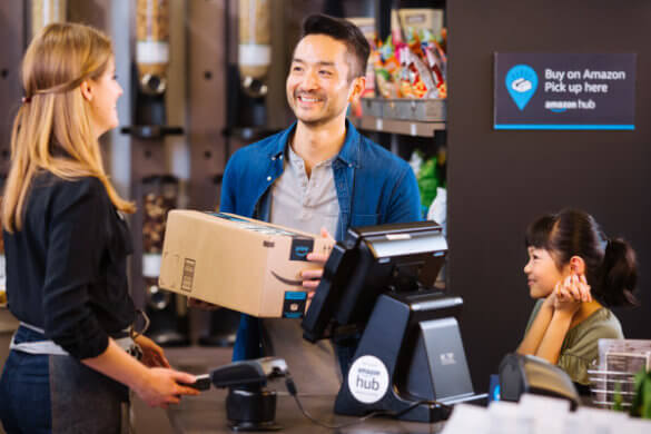 Amazon starting in-store pick-up